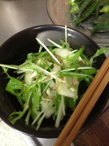 Okinawa summer salad with ponzu-sesame dressing