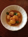 stewed apricot above view