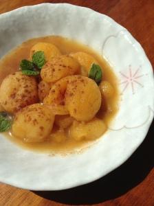 stewed apricot overhead