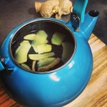 ginger tea in kettle