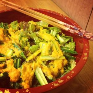 japanese ginger carrot dressing mixed