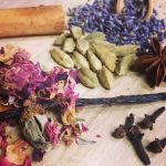 DIY body oil herbs