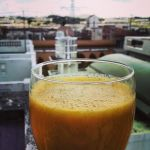 tangerine bliss smoothie balcony