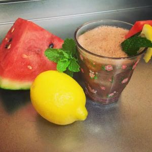 watermelon cooler with ingredients